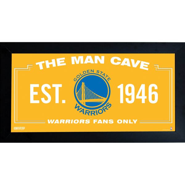 NBA Framed Man Cave Sign Memorabilia by Steiner Sports