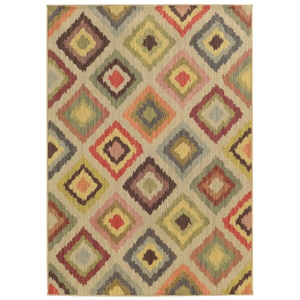 Tommy Bahama Cabana Beige / Multi Geometric Indoor/Outdoor Area Rug by Tommy Bahama Home