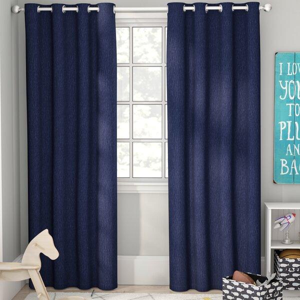 Tamara Solid Blackout Thermal Grommet Curtain Panels (Set of 2) by Viv + Rae