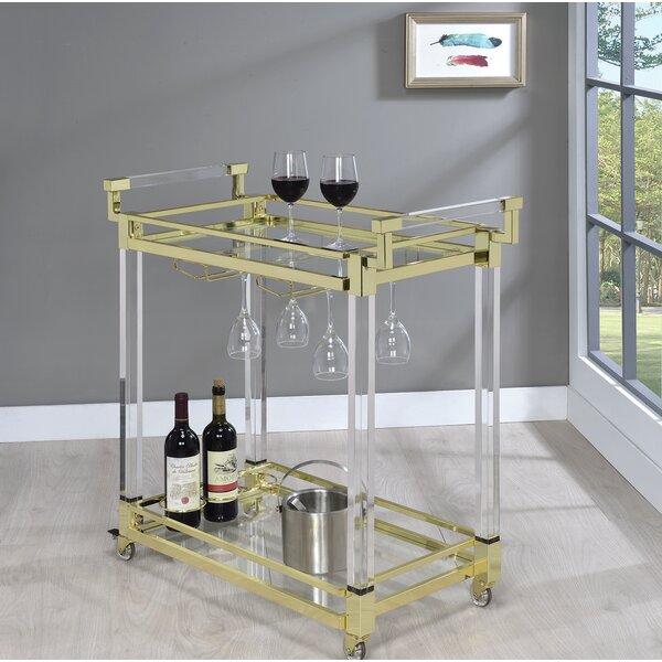 Kalib Serving Bar Cart by Everly Quinn Everly Quinn