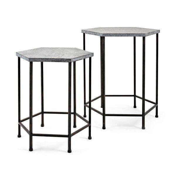 Baumgarten 2 Piece Galvanized End Table Set by Gracie Oaks Gracie Oaks