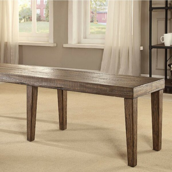 Zoey Wood Dining Bench by Gracie Oaks