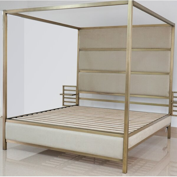 Drayton Upholstered Storage Canopy Bed by Everly Quinn
