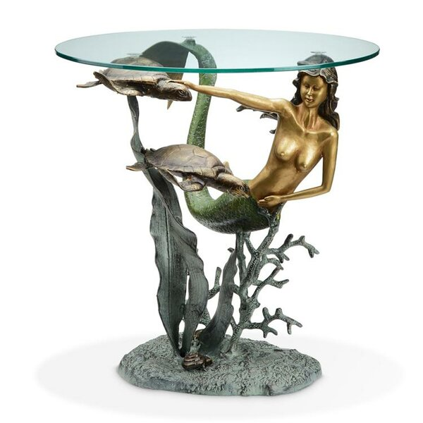 Mermaid and Sea Turtles End Table by SPI Home