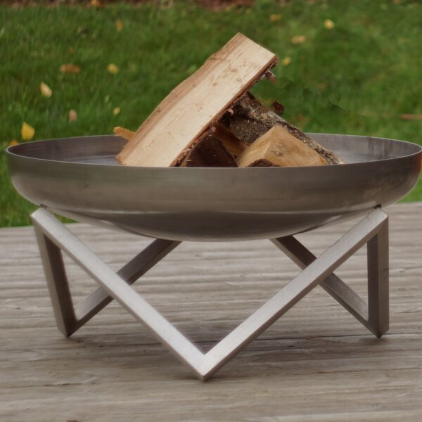 Memel Stainless Steel Wood Burning Fire Pit by Curonian