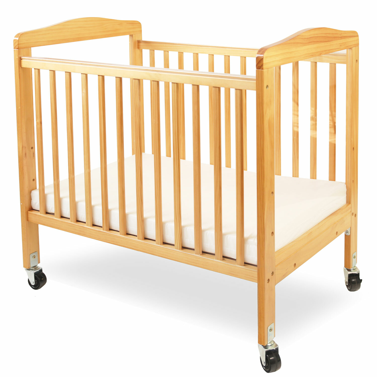 LA Baby Compact Wooden Window Portable Crib With Mattress Reviews