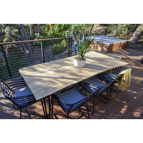 Pemberton 9 Piece Teak Dining Set with Cushions