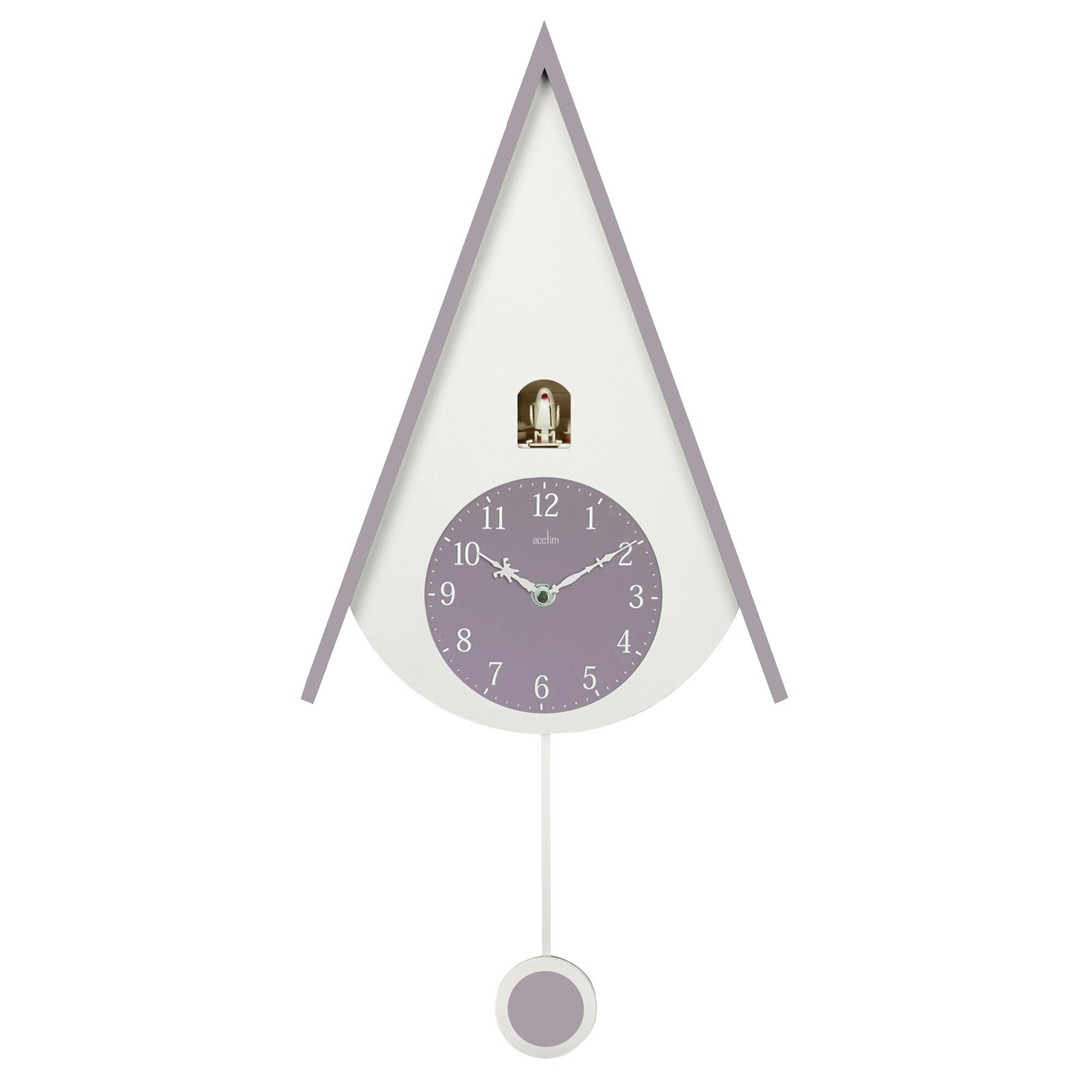 Lulea Mauve Blush Chalet Style Cuckoo Clock