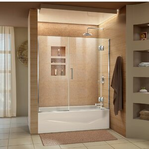 Unidoor-X 58 x 58 Hinged Frameless Tub Door with ClearMaxu2122 Technology