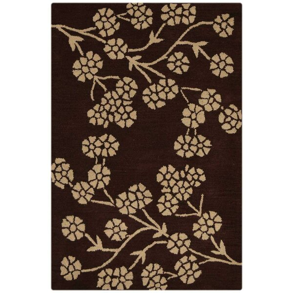 Creager Hand-Tufted Wool Brown/Beige Area Rug by Winston Porter