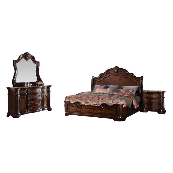 Fletcher Panel 5 Piece Bedroom Set by Astoria Gran