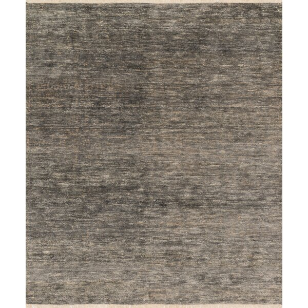 Moiseiev Hand-Knotted Gray Area Rug by Ebern Designs
