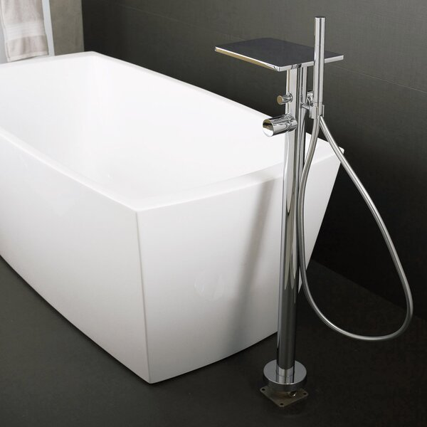 Single Handle Floor Mounted Freestanding Tub Filler Trim With Hand Shower By DAX