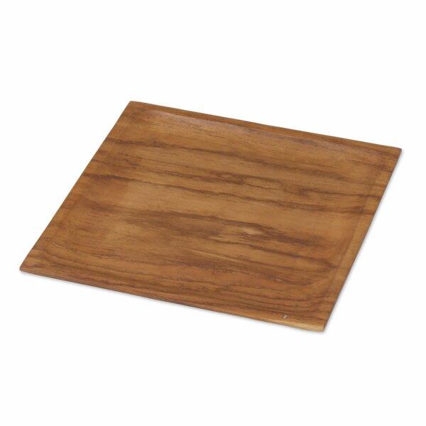 Nazarene Forest Teakwood Platter by Bloomsbury Market