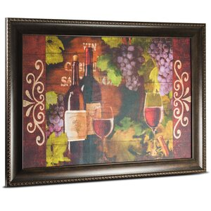 'Red Wine' Framed Painting Print on Canvas by Crystal Art Gallery