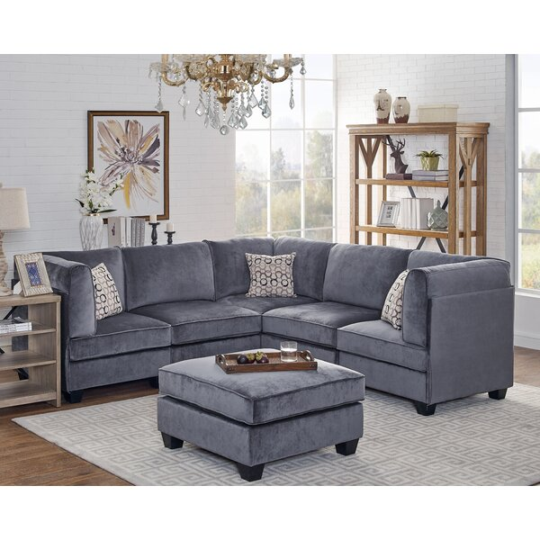 Best #1 Dorene Modular Sectional With Ottoman By Ivy Bronx Wonderful