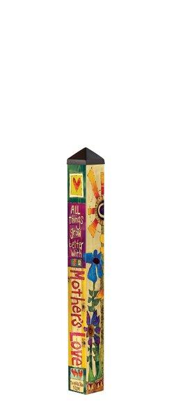 Love Mom Art Pole Garden Stake by Studio M