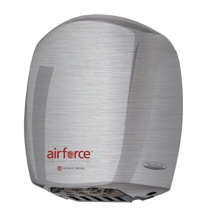 Airforce Hi-Speed 110 / 120 Volt Hand Dryer in Brushed Stainless Steel by World Dryer