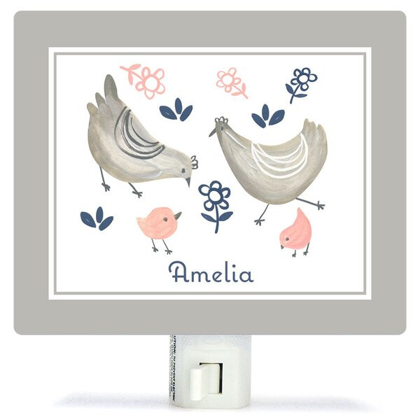 Personalized Little Chickens Canvas Night Light by Oopsy Daisy