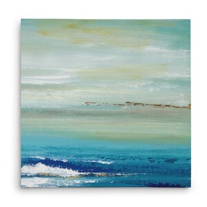 'Distant Horizon Detail II' Acrylic Painting Print on Gallery Wrapped Canvas by Highland Dunes