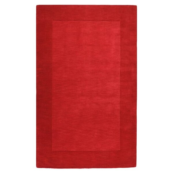 Bradley Hand Woven Red Area Rug by Winston Porter