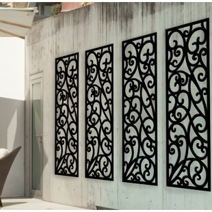 Panel Wrought Iron Wall Décor