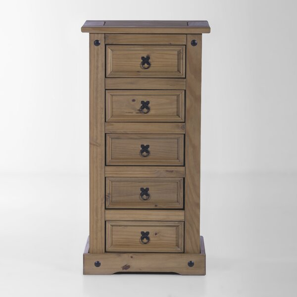 Swink Narrow Bedroom 5 Drawer Lingerie Chest by August Grove