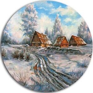 'Snow Village' Painting Print on Metal by Design Art