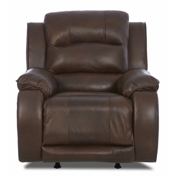 Baton Rouge Leather Power Recliner By Darby Home Co