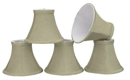 6 Fabric Bell Candelabra Shade (Set of 5) by Aspen Creative Corporation