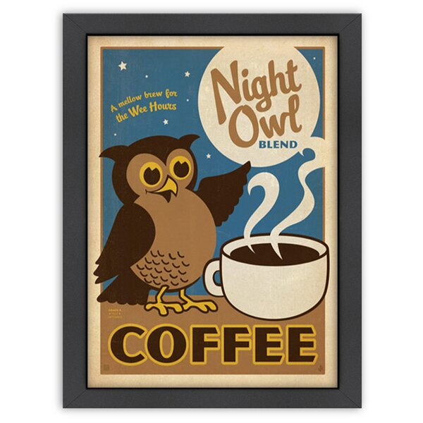 Night Owl Framed Vintage Advertisement by East Urban Home