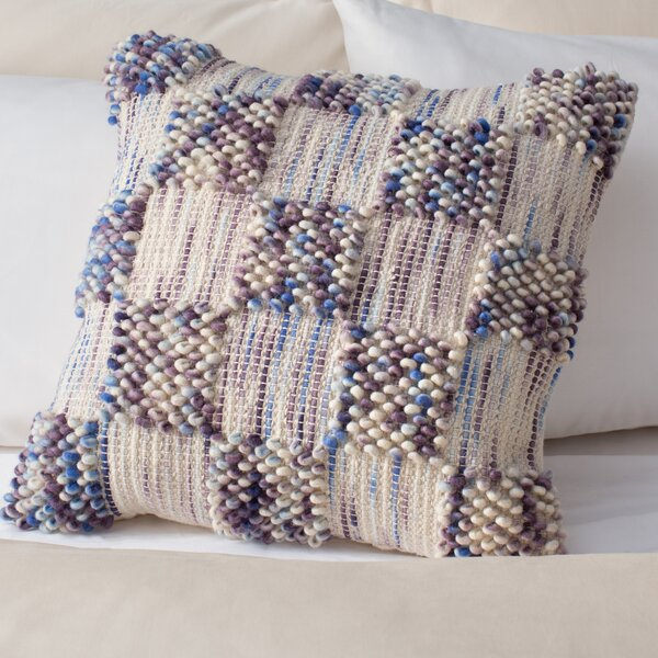 Harmony Square Spaced Looped Throw Pillow by Bungalow Rose