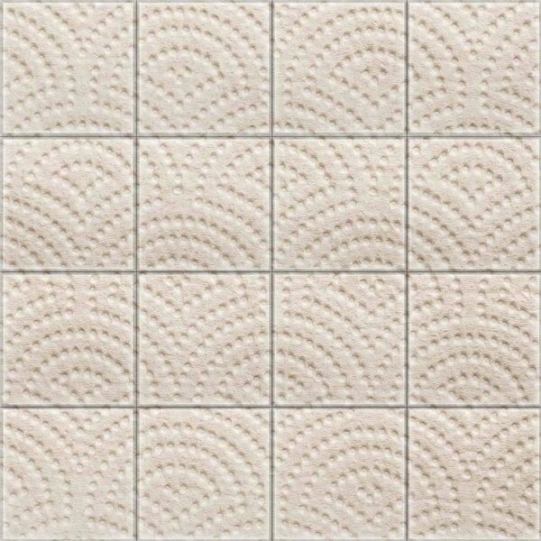 2 x 2 Glass Decorative Mural Tile in Cream by Upscale Designs by EMA