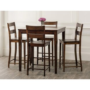 Gambino Rustic 5 Piece Pub Table Set By Bloomsbury Market