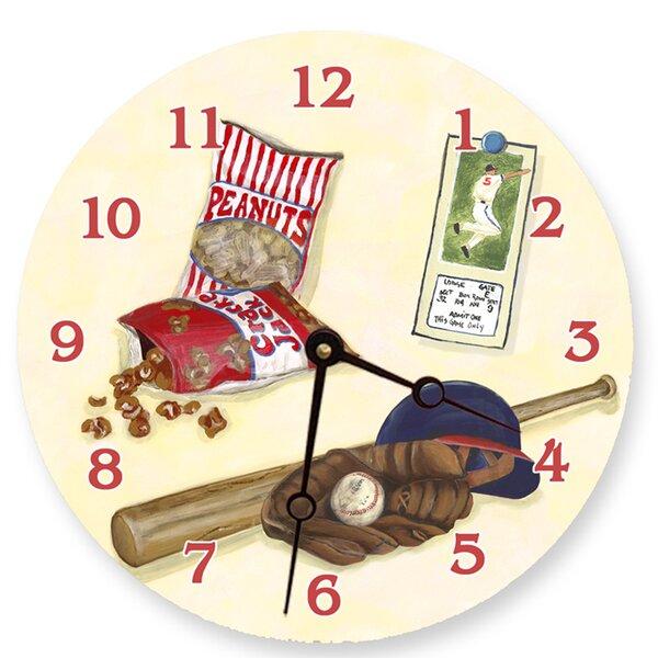 Sports 18 Baseball Wall Clock by Lexington Studios
