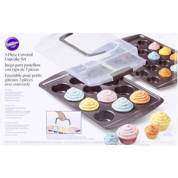 3 Piece Covered Cupcake Set by Wilton