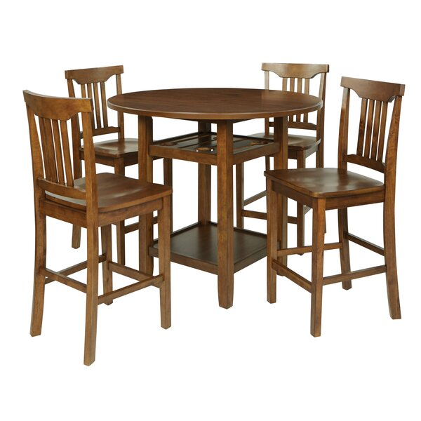 East Village 5 Piece Counter Height Breakfast Nook Dining Set by Breakwater Bay