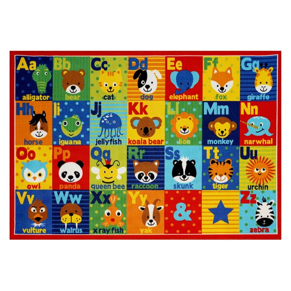 Hastings Alphabet Friends Red/Blue Area Rug by Smithsonian Rugs