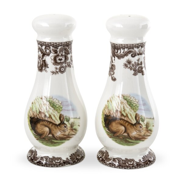 Woodland Salt And Pepper Shakers Set By Spode.