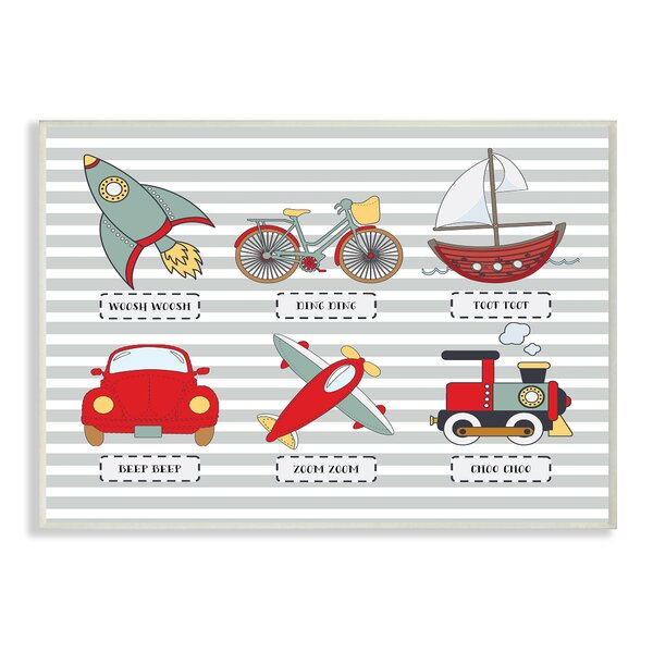 Transportation Icons and Noises Wall Plaque by Stupell Industries