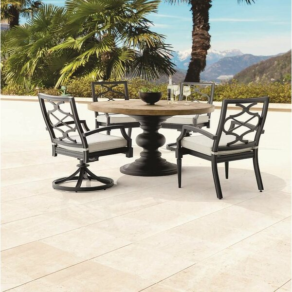 Euston Outdoor 5 Piece Dining Table Set by Canora Grey