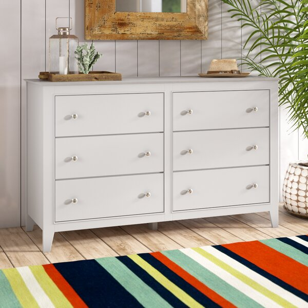Best #1 Vidor 6 Drawer Double Dresser By Harriet Bee Savings