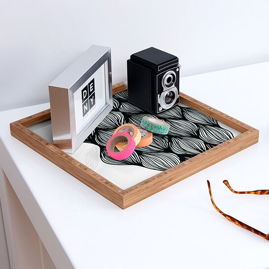 Gabi Waves Square Accent Tray by Deny Designs