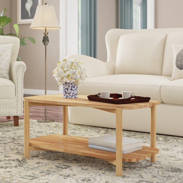 Jaimes Solid Wood Coffee Table With Storage By Winston Porter