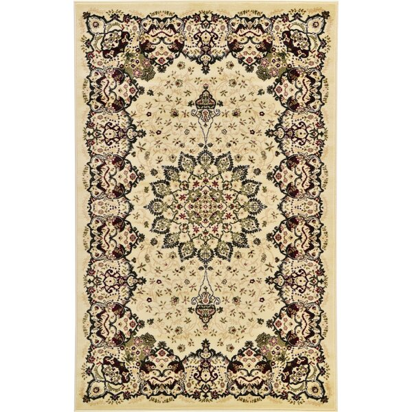 Britain Cream Area Rug by World Menagerie