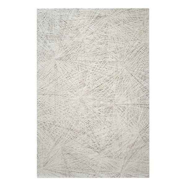 Nemeth Hand-Tufted Wool Ivory Area Rug by Brayden Studio