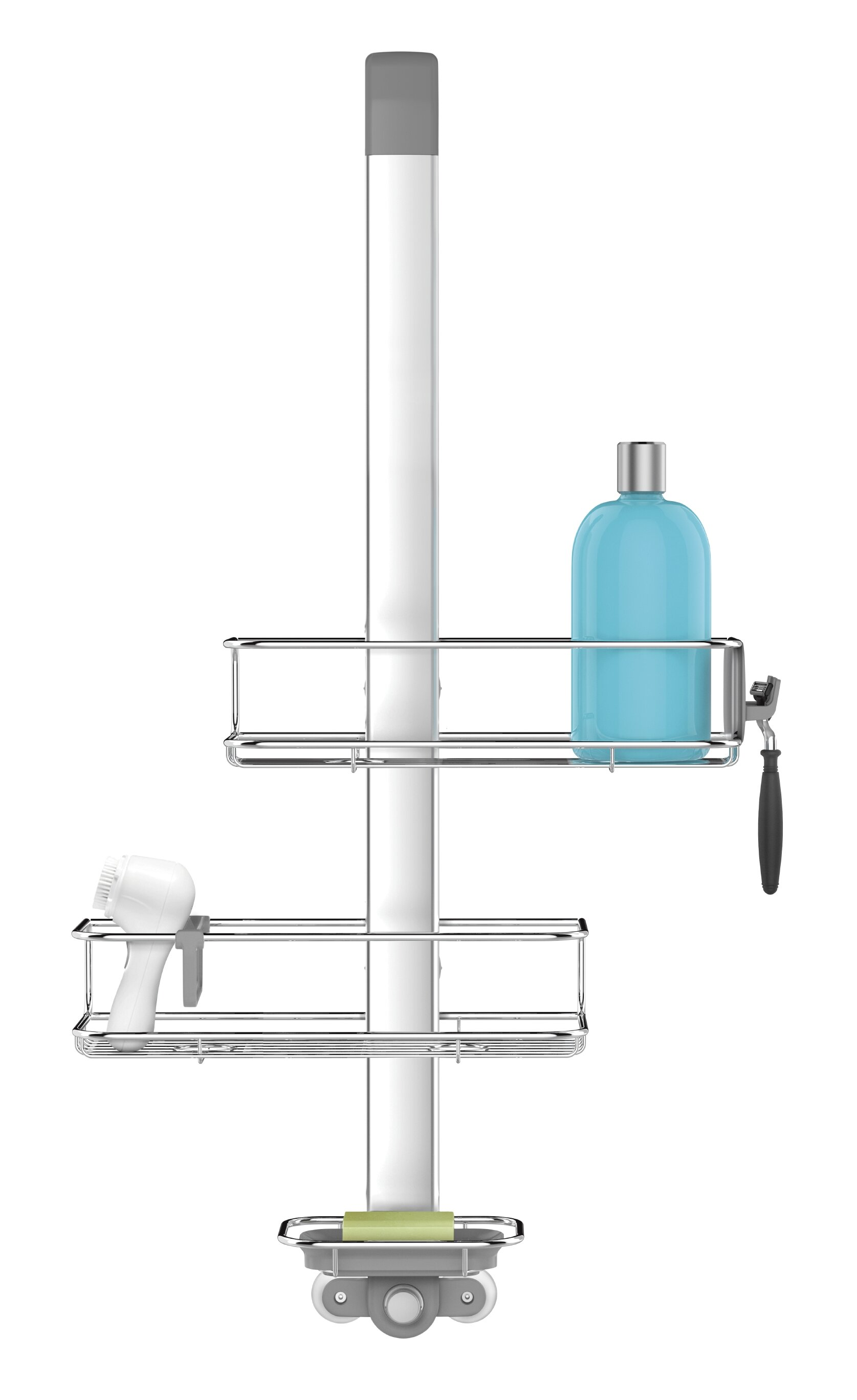 simplehuman Over Door Shower Caddy, Stainless Steel + Anodized ...