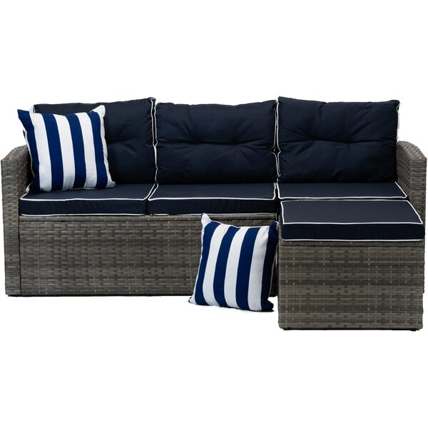 Mireya Patio Sectional With Cushions By Longshore Tides