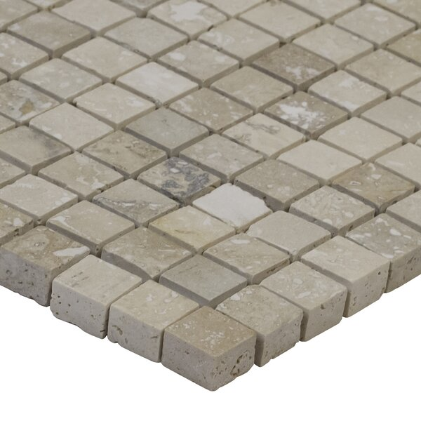 Honed Micro Mosaic Travertine 12 x 12 Natural Stone Mosaic Tile by MSI