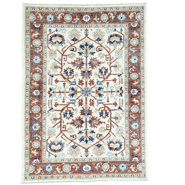 One-of-a-Kind Saltford Hand-Knotted Ivory Area Rug by Astoria Grand